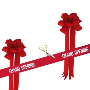 "10 1/2"" Ceremonial Scissors Grand Opening Kit"