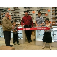 """A Grand Re-Opening Ribbon Cutting Ceremony with 15"""" Chrome Plated Scissors"""