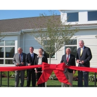 """15"""" Chrome Plated Scissors at a Ribbon Cutting Ceremony"""