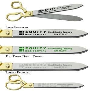 "20"" Ceremonial Ribbon Cutting Scissors"