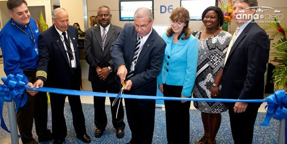 """20"""" Ceremonial Scissors at a Ribbon Cutting Ceremony"""