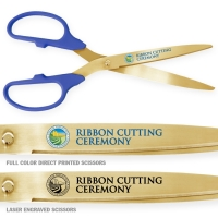 "25"" Blue Gold Ceremonial Scissors"