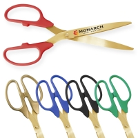 "25"" Ceremonial Ribbon Cutting Scissors - Gold Blades"