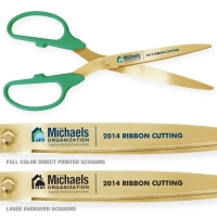 "25"" Green Gold Ceremonial Scissors"