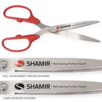 "36"" Red Ceremonial Ribbon Cutting Scissors Silver Blades"