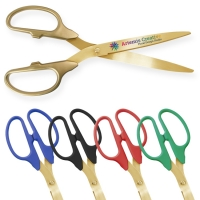 "36"" Ceremonial Ribbon Cutting Scissors Gold Blades"