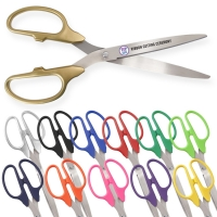 "36"" Ceremonial Ribbon Cutting Scissors Silver Blades"