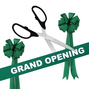"36"" Silver Ceremonial Scissors Grand Opening Kit"