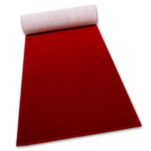 Red Ceremonial Carpet Roll