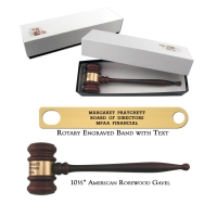 "10.5"" American Rosewood Gavel and Gift Box"