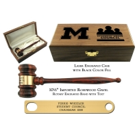 Leader Presentation Gavel Set with Imported Rosewood Gavel