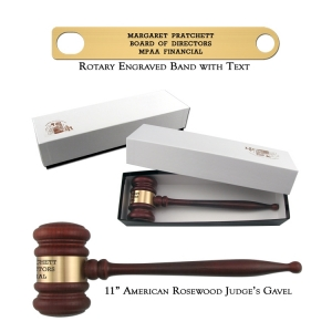 """11"""" American Rosewood Gavel and Gift Box"""