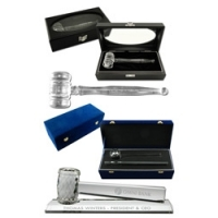 Crystal Gavel Presentation Sets
