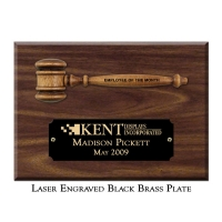 "Engraved 5"" Miniature Gavel Plaque"