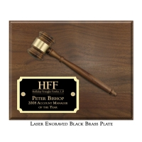 "Engraved 8"" Gavel Plaque"