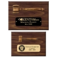 Miniature Wooden Gavel Plaques
