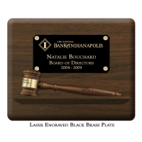 "Engraved Pedestal 8"" Gavel Plaque"