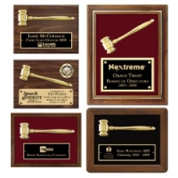 Split Metal Gavel Plaques