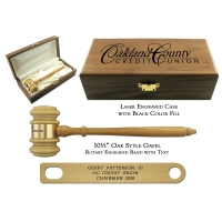 Leader Presentation Gavel Set with Oak Finish Gavel