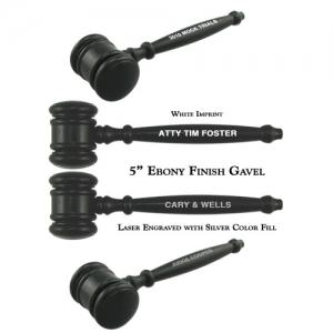 "Engraved 5"" Miniature Gavels"