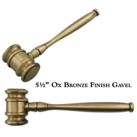 Engraved Metal Miniature Gavel