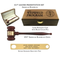 "10.5"" American Rosewood Gavel, Leader Presentation Set"