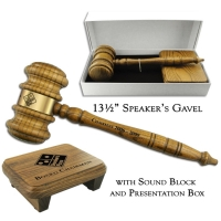 "13-1/2"" Giant Speaker's Gavel & Sound Block Presentation Set"