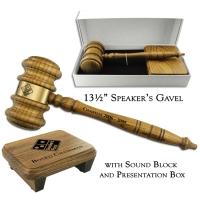 "13-1/2"" Giant Speaker's Gavel & Sound Block Presentation Set"