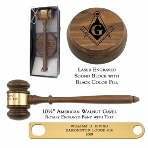 American Walnut Director Gavel Presentation Set