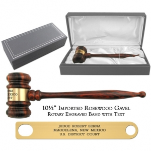 Imported Rosewood Gavel President Presentation Set