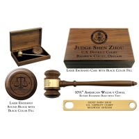 Engraved Walnut Presentation Set