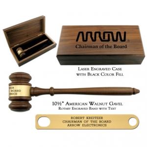 Engraved Walnut Presentation Set