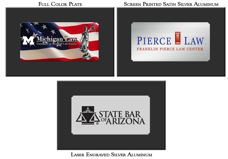 Screen Printing, Full Color Print, and Laser Engraving on Silver Plates for Gavel Box