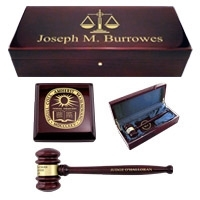 Piano Finish Gavel Presentation Sets