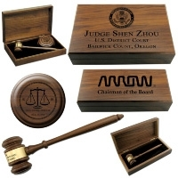 Engraved Walnut Presentation Sets
