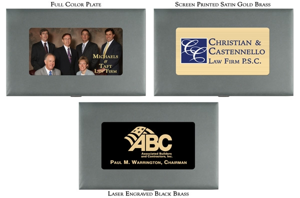 Full Color Plates for  Chairman Gavel Presentation Sets