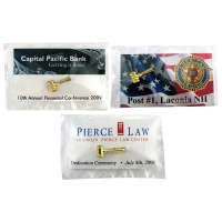 Full Color Gavel Lapel Pin Presentation Cards