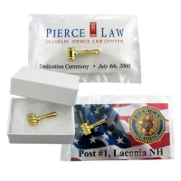 Gavel Lapel Pins, Gift Boxes & Cards