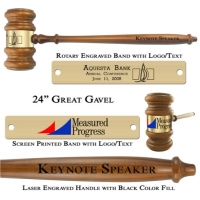 "Engraved Giant 24"" The Great Gavel"