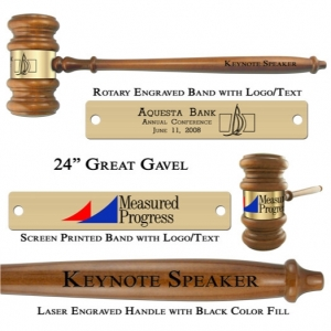 """Engraved Giant 24"""" The Great Gavel"""