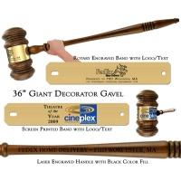 """Engraved Giant 36"""" Decorator - Extra Large Gavel"""