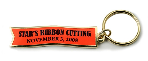 Ceremonial Ribbon Cutting Key Tag