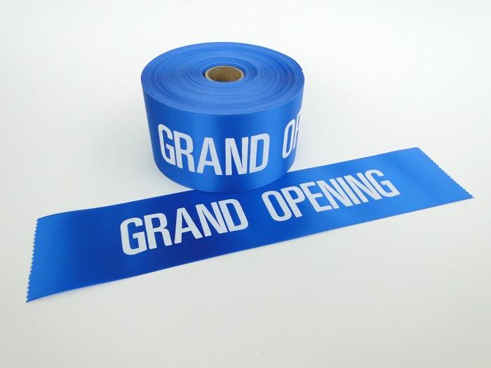 "4"" Blue Grand Opening Ribbon"