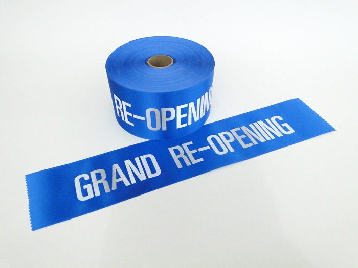 """4"""" Blue Grand Re-Opening Ribbon"""