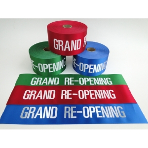 "4"" Grand Re-Opening Ribbon"