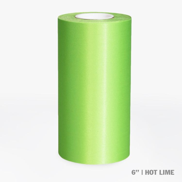"6"" Blank Ceremonial Ribbon - Hot Lime"