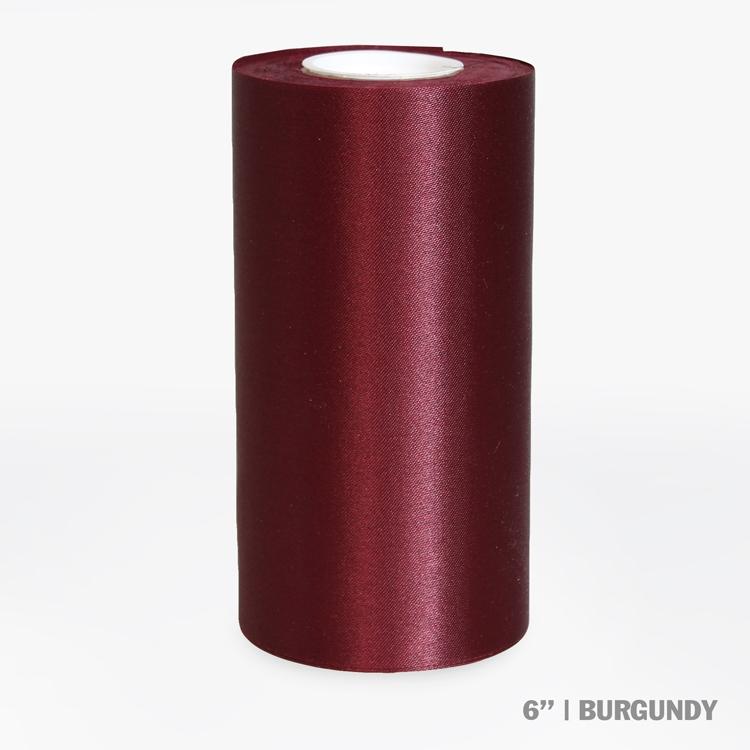 "6"" Wide Ceremonial Ribbon - Burgundy"