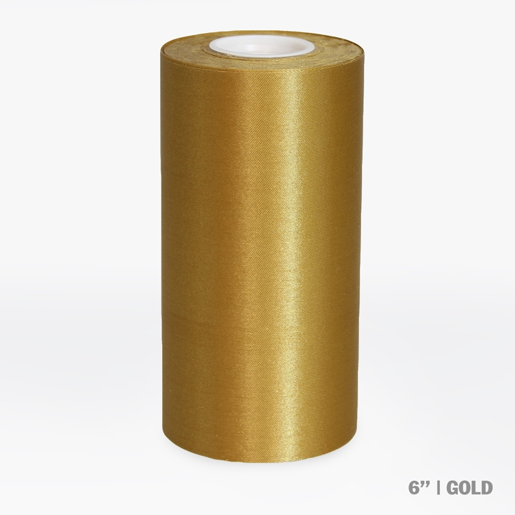"""6"""" Wide Ceremonial Ribbon - Gold"""