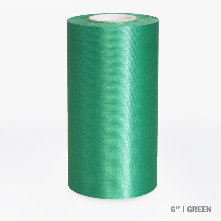 "6"" Blank Ceremonial Ribbon - Green"