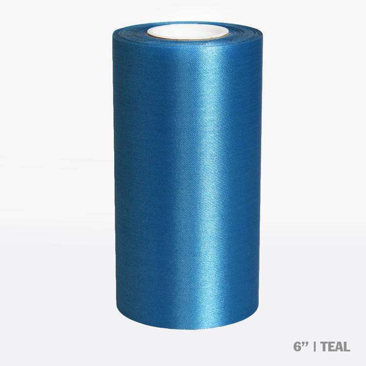 "6"" Blank Ceremonial Ribbon - Teal"